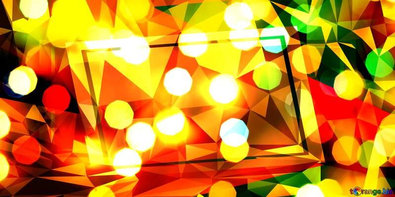 Bokeh background geometrical creative polygonal template frame №24617