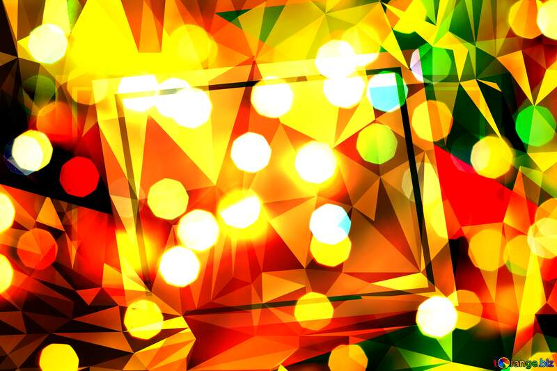 Bokeh background abstract geometrical template №24617