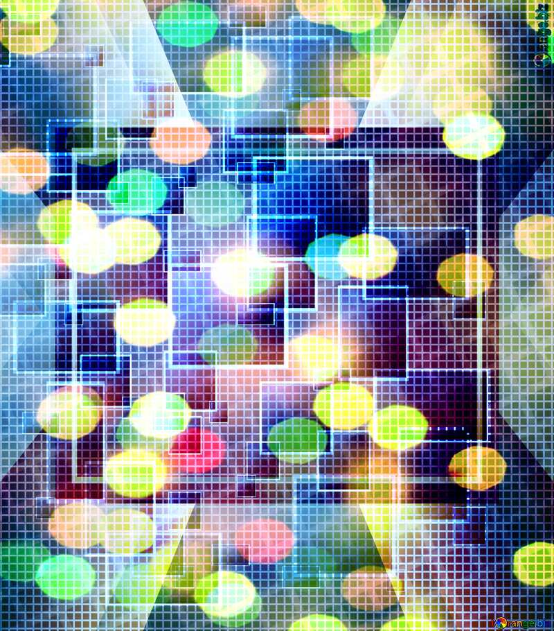 Technology background ruler tech abstract squares techno bokeh №49678