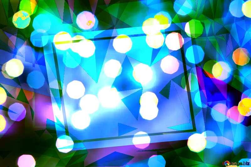 Bokeh colorful  polygon creative template background №24617