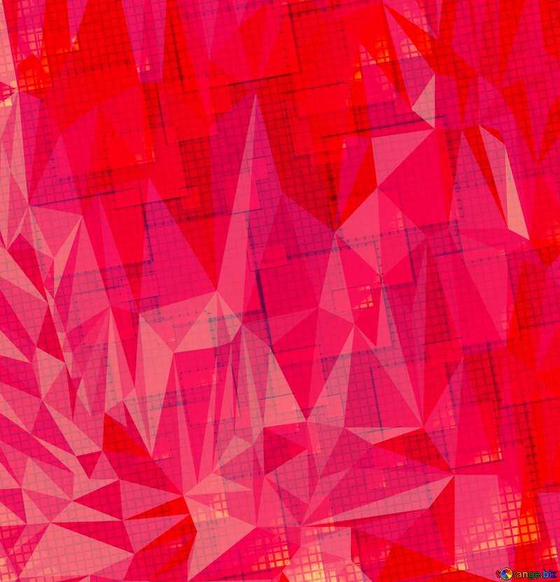 Technology background Polygon triangles dark red №49678