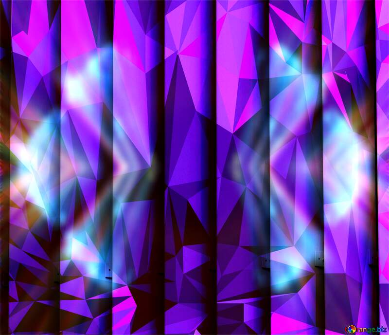blinds texture different thickness lines Polygonal background with triangles Blue fractal arrows №50773