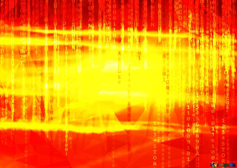 The Scarlet sunset polygonal binary code technology background №31611