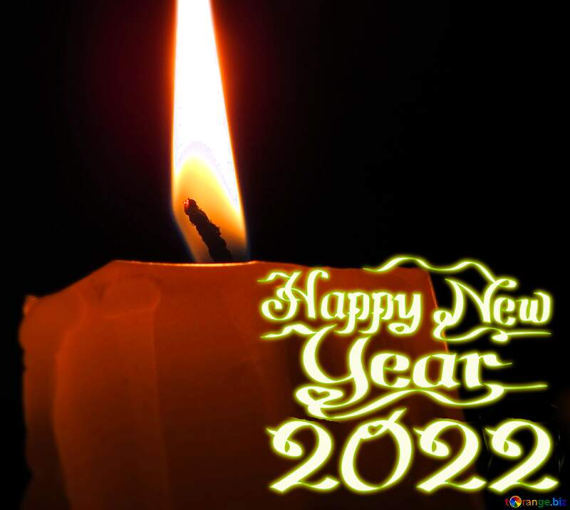 Candle happy new year 2021 №17416
