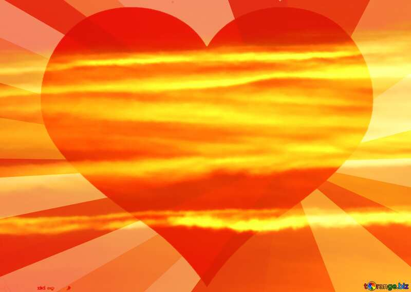 The Scarlet sunset heart rays №31611
