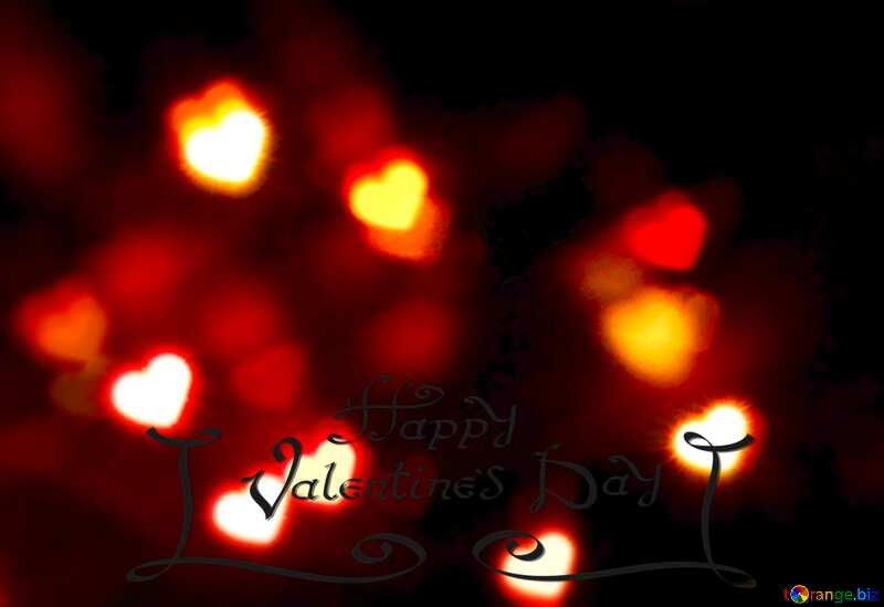 A dark background with big hearts happy valentine`s day №37850