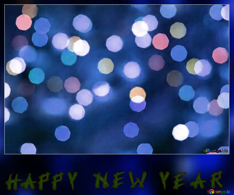 Christmas background happy new year blue blank card №24617