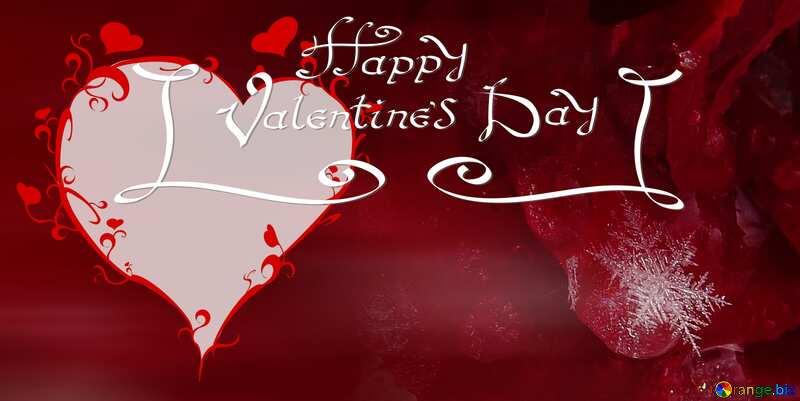 snow happy valentines heart №16989