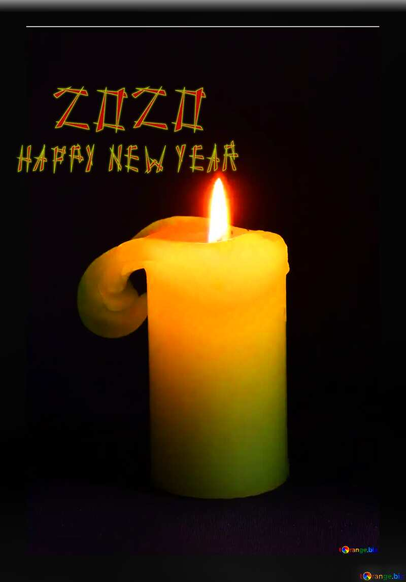 Burning candle happy new year 2020 №2390