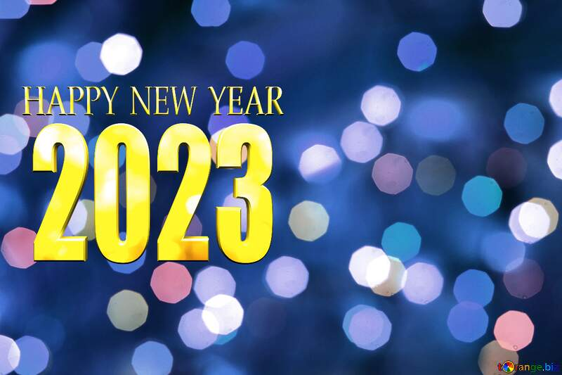 Christmas Bokeh  blue background happy new year 2022 №24617