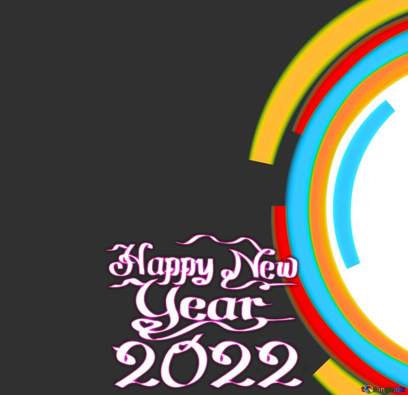 Infographics circle frame happy new year 2020 №49680