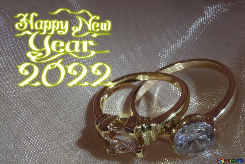 happy new year 2021 two rings  card background №18236