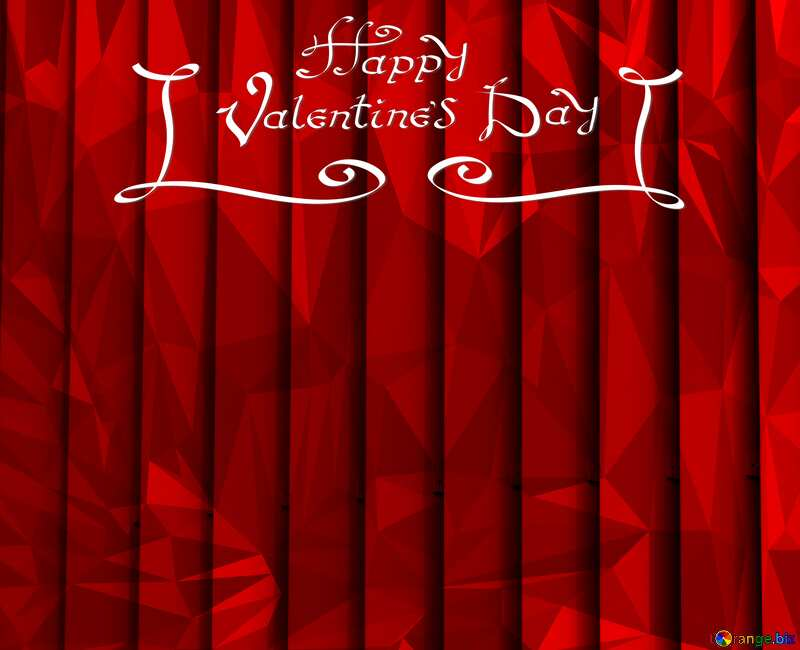 blinds texture different thickness lines polygonal red  happy valentines day  dark background Polygonal №50773