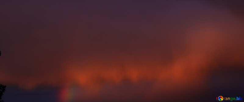 Rainbow. Sunset dark №1874
