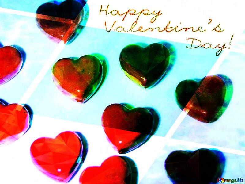 Postcard Happy Valentines day №3684