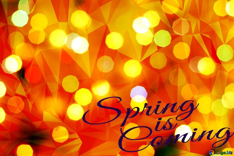 Christmas background Polygon spring coming picture №24617