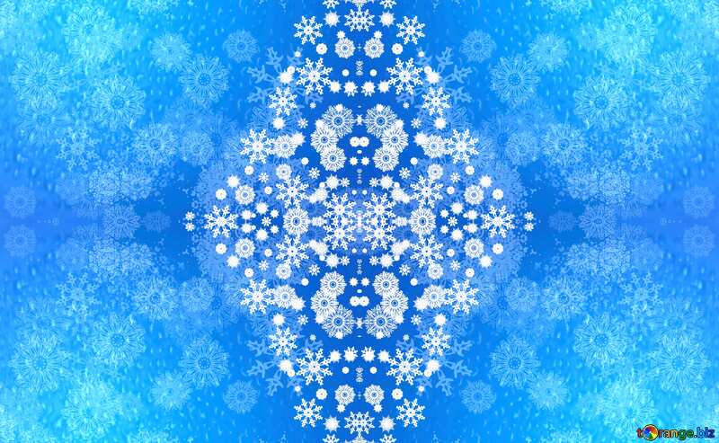 Blue background for Christmas and new year cards pattern №40657
