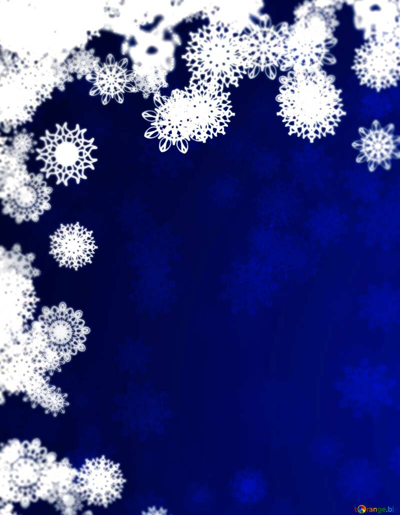New year background with snowflakes blur frame left top №40728