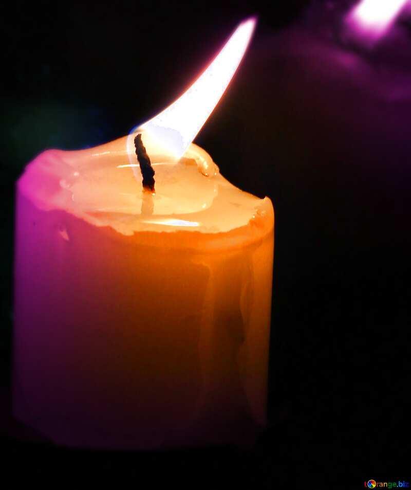 Candle near window №18138