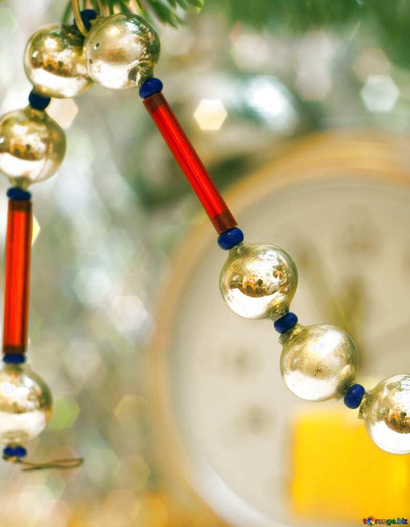Christmas beads. №6893