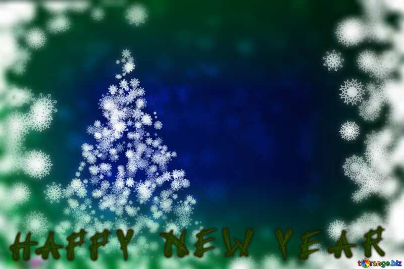 Happy New Year  blur frame background №40729