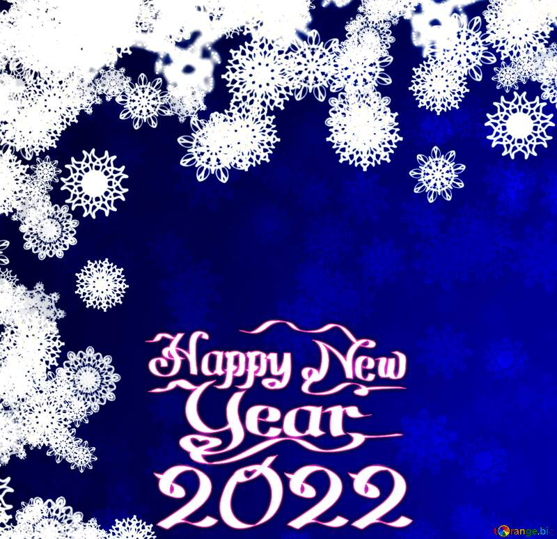 New year background with snowflakes happy new year  2020 №40728