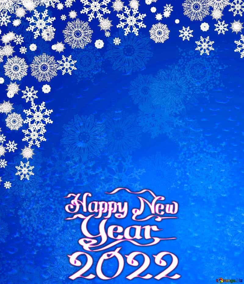 Blue Christmas background happy new year 2022 №40657