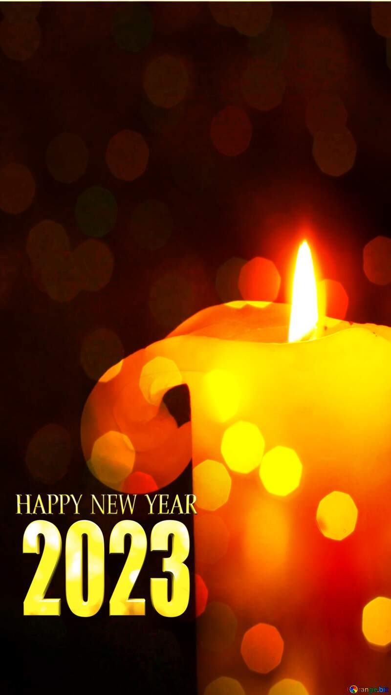 Burning candle happy new year 2021 №2390