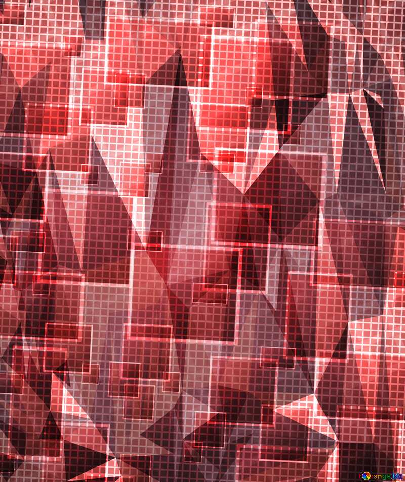 Technology background abstract squares tech polygonal triangles background red  color №49678