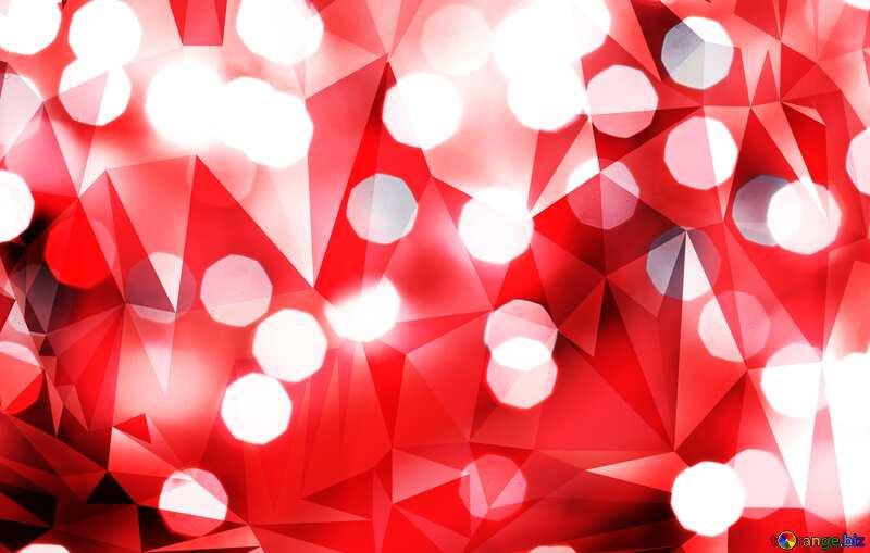 Bokeh  techno red  polygonal background №24617