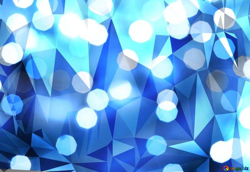 Christmas Bokeh blue  polygonal triangles techno background №24617