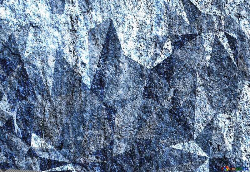 Granite. Rough texture of rough stone polygonal background triangles №1301