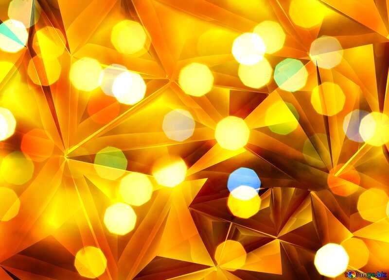 Bokeh  gold metal texture polygonal background №24617