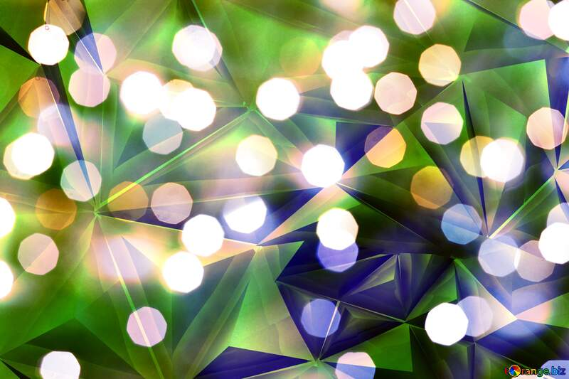 Bokeh  metal texture polygonal background №24617