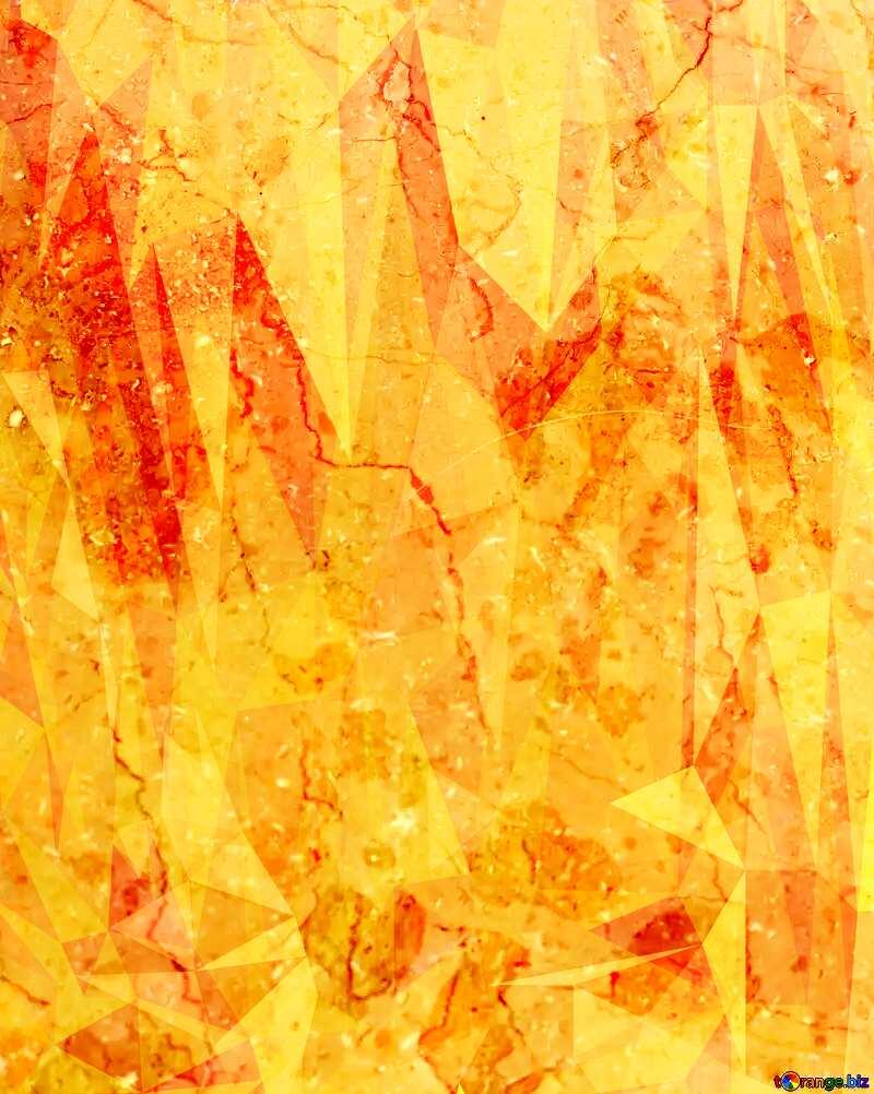 Light marble texture polygonal orange yellow  triangles background №26997