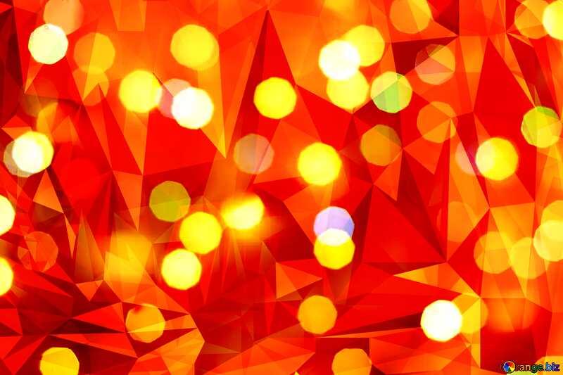 Bokeh  orange  Polygonal background №24617