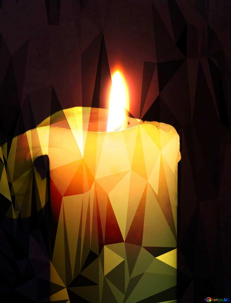 Burning candle Polygonal triangles techno №2390
