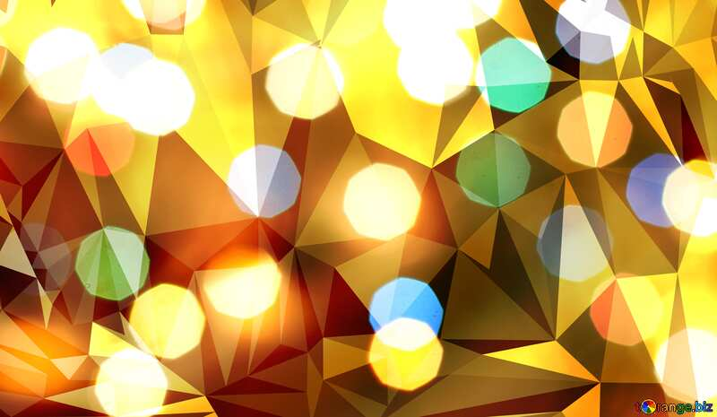 Bokeh  polygonal background №24617