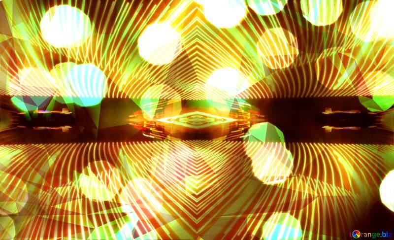 Bokeh  toned polygon picture №24617