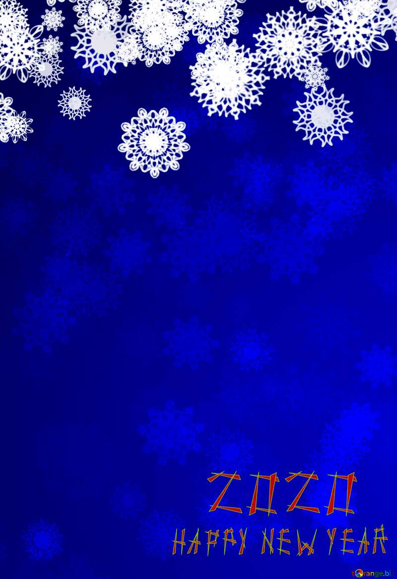 Blue background Christmas and new year happy new year 2020 №40710