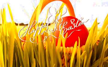 The effect of light. Vivid Colors. Happy Easter card.