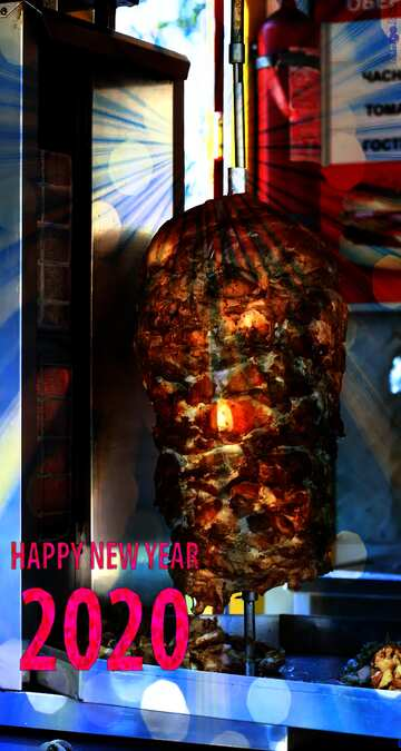 The effect of the hard dark. Fragment. Happy New Year 2020.