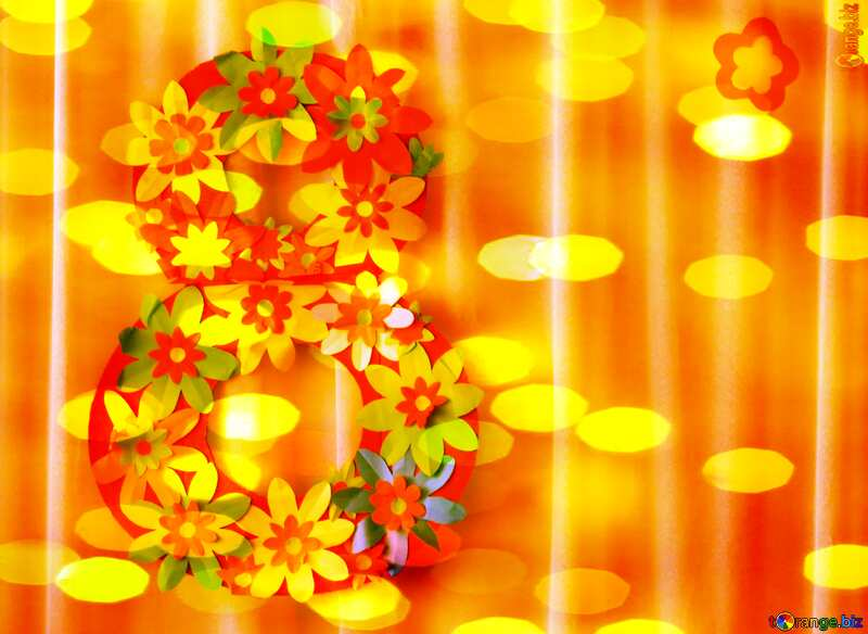 March 8th  bokeh background №22095