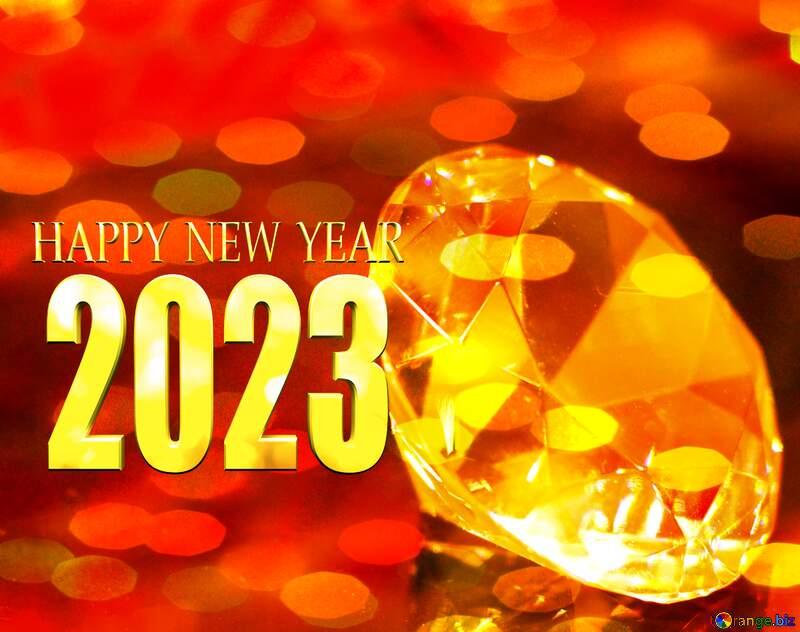 happy new year 2022 diamond Christmas bokeh background №52795