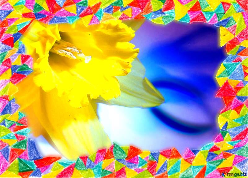 Narcissus Frame colors hand drawn №341
