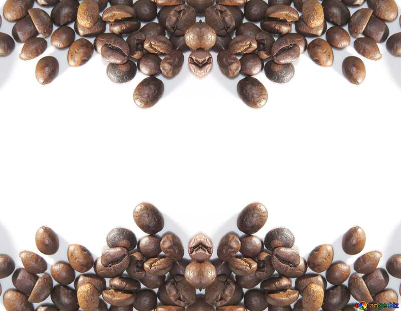 Frame coffee beans pattern №32291