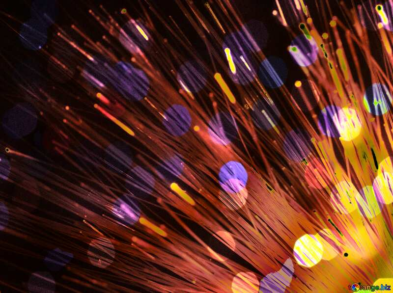 Transmission data optical fiber red colors №41328
