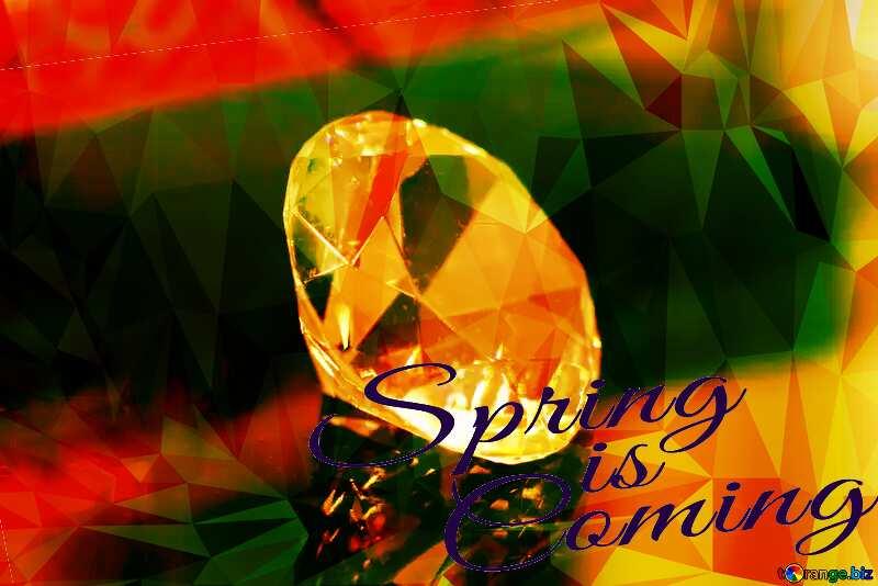 diamond polygon spring coming №52795