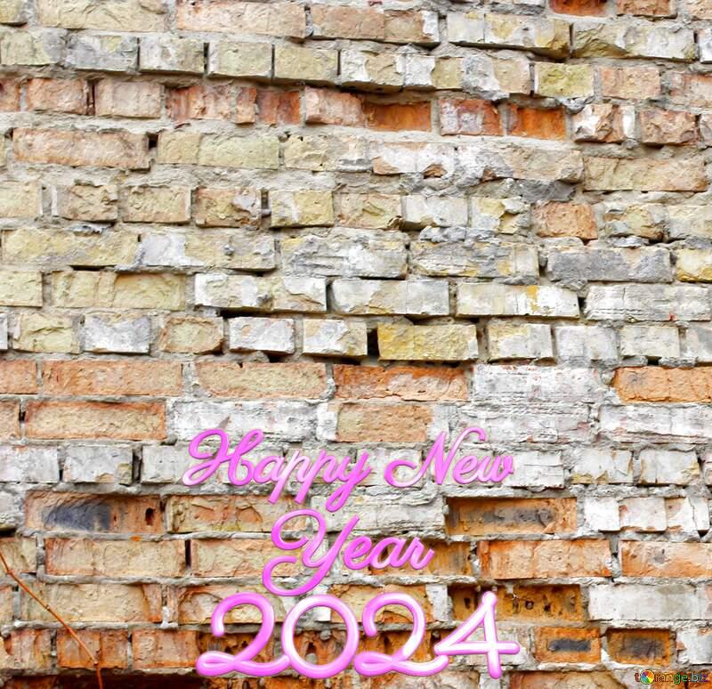 Texture old  brick happy new year 2022 №39048