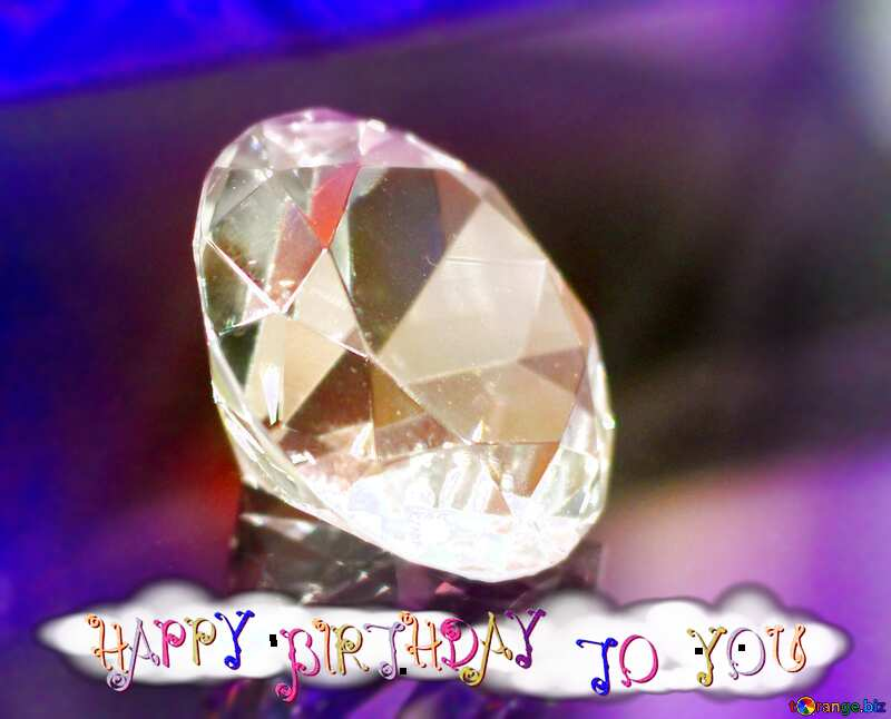 diamond happy birthday card background №52795